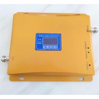FREEshipping LCD Display GSM WCDMA Signal Booster Repeater 900mhz 2100Mhz Dual Band Mobile Signal Booster