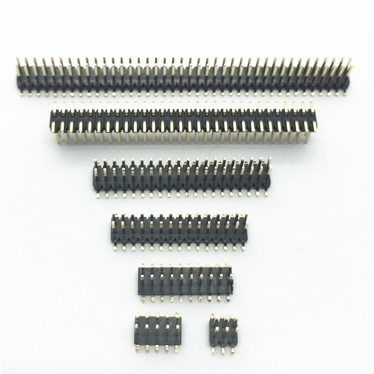 Connectors Lighting Accessories Smt 1.27mm 1.27 Double Row Male Breakaway Pcb Board Pin Header Connector Pinheader 2*3/4/5/6/7/8/10/12/15/20/40p 3-50p