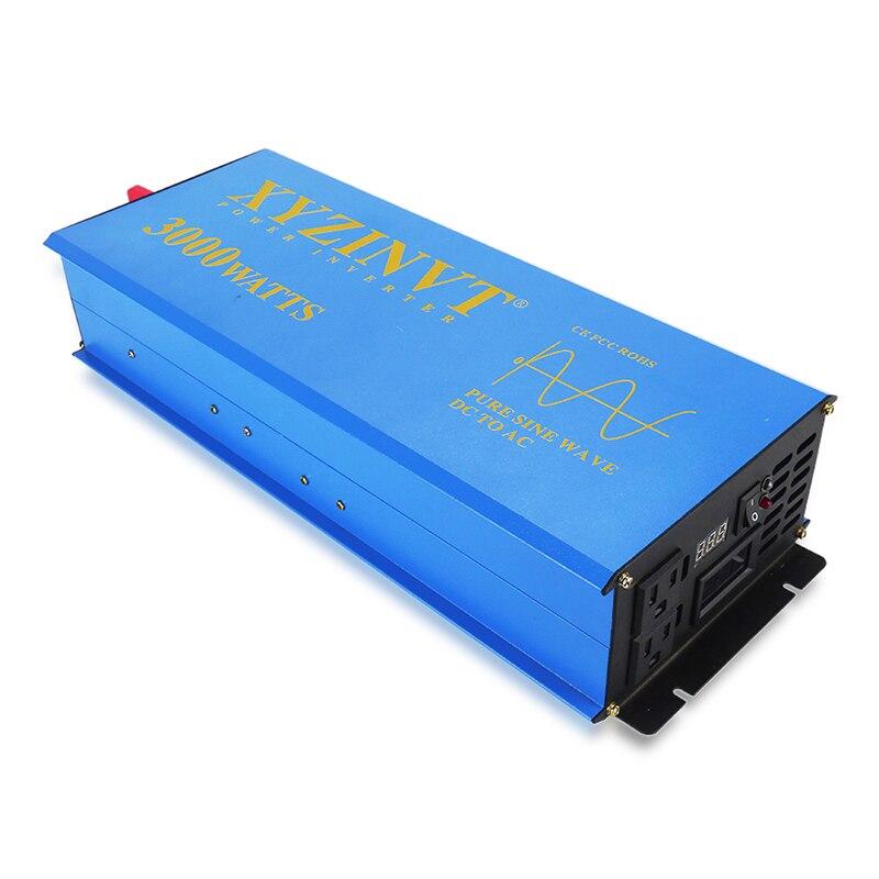 Onduleur solaire à onde sinusoïdale Pure 24 V 230 V 3000 W batterie externe onduleur pompe/convertisseur de voiture 12 V/24 V/48 V DC à 120 V/220 V/240 V/V AC