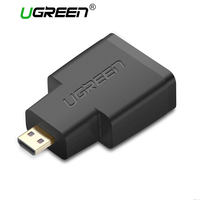 UGREEN Micro HDMI to HDMI Adapter Golden Plated Connector Support 3D 2K Video for GoPro HERO6 Camera Blackberry Z30 Smart Phone