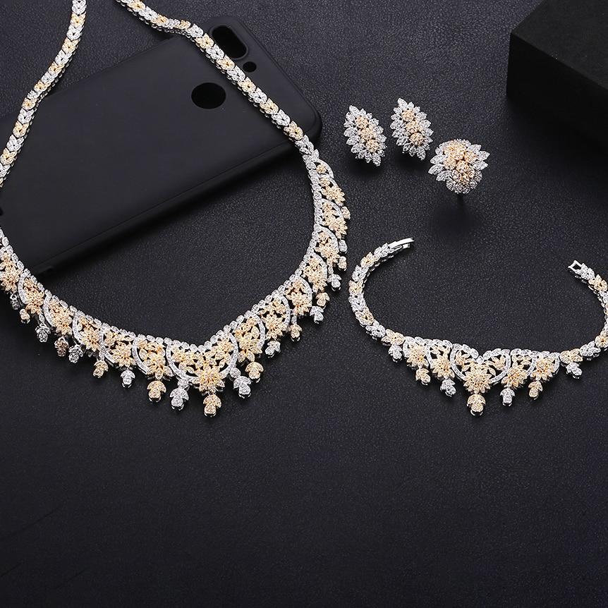 Bridal-Jewelry-Sets Jankelly Wedding-Party-Accessories Dubai Nigeria Women New-Fashion