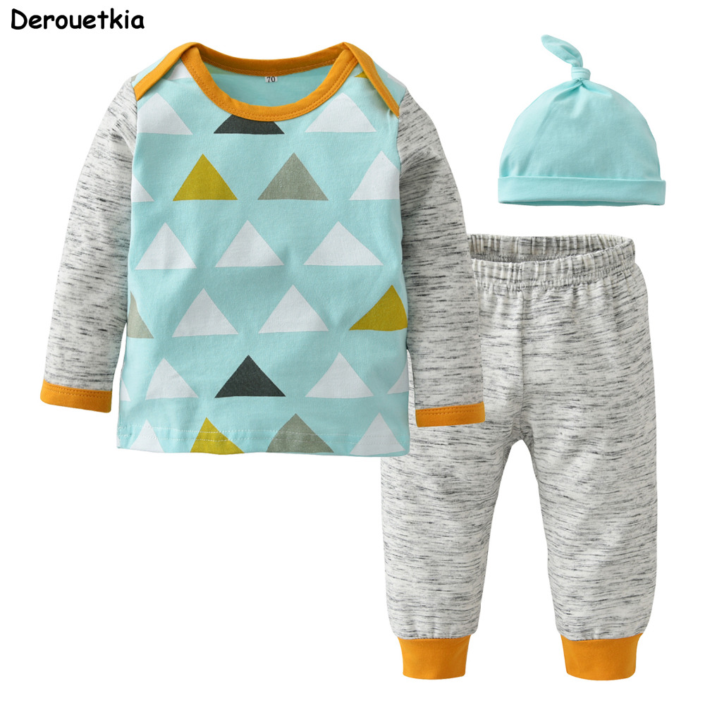 Children Boy Clothing Sets Handsome Child Boys Clothes 3: 2018 Autumn Baby Boy Clothing Sets Long Sleeve Triangle