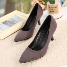 2016 New High Heels Black Suede Stiletto Pumps Fashion Dress With Cheap Shoes Free Shipping China Spring Summer