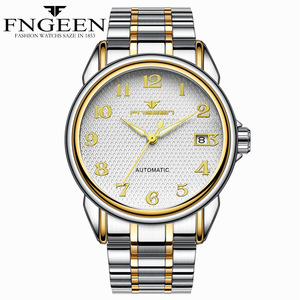 Image 3 - Relogio Masculino Luminous FNGEEN Mens Skeleton Watches Steampunk Fashion Automatic Skeleton Mechanical Wrist Watches Male Clock