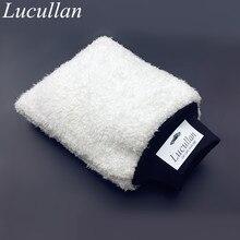 Lucullan новейшая Ультрамягкая рукавица для мытья автомобиля, легко сушить, микрофибра премиум класса, Авто Детализация, рукавица для мытья двух Ведер