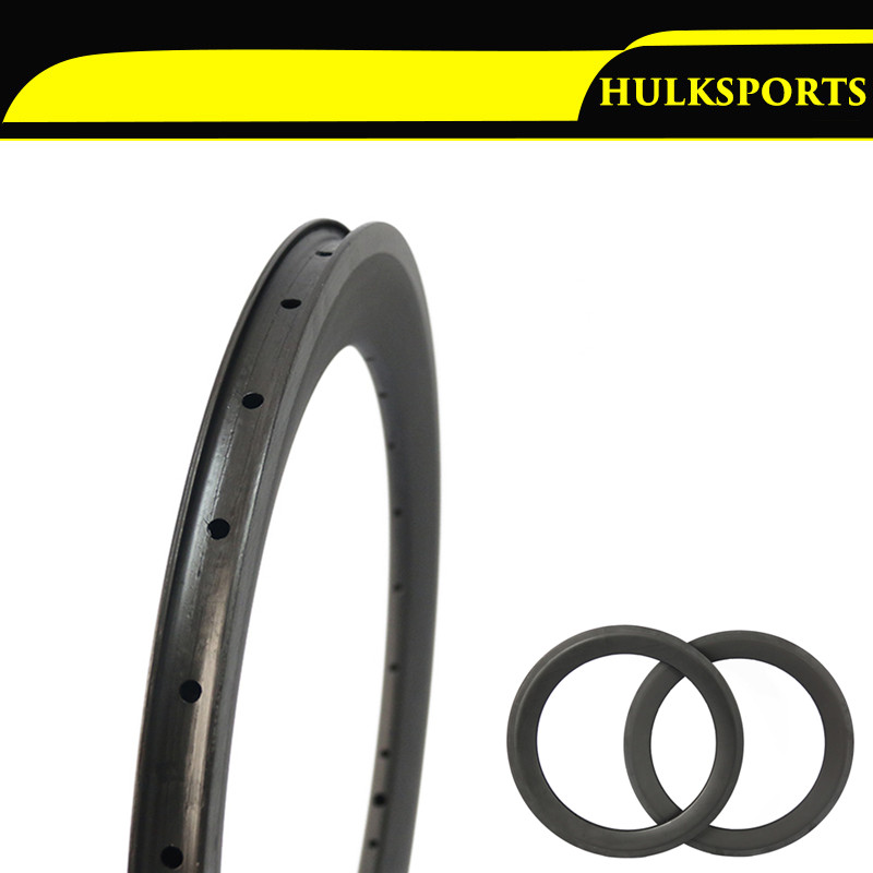 "406mm Carbon 20inch Bike Rim BMX Width 25mm  Profile 50mm 406 Rim 20"" 16 - 20 Holes Clincher Rims for sale 1 Pair"