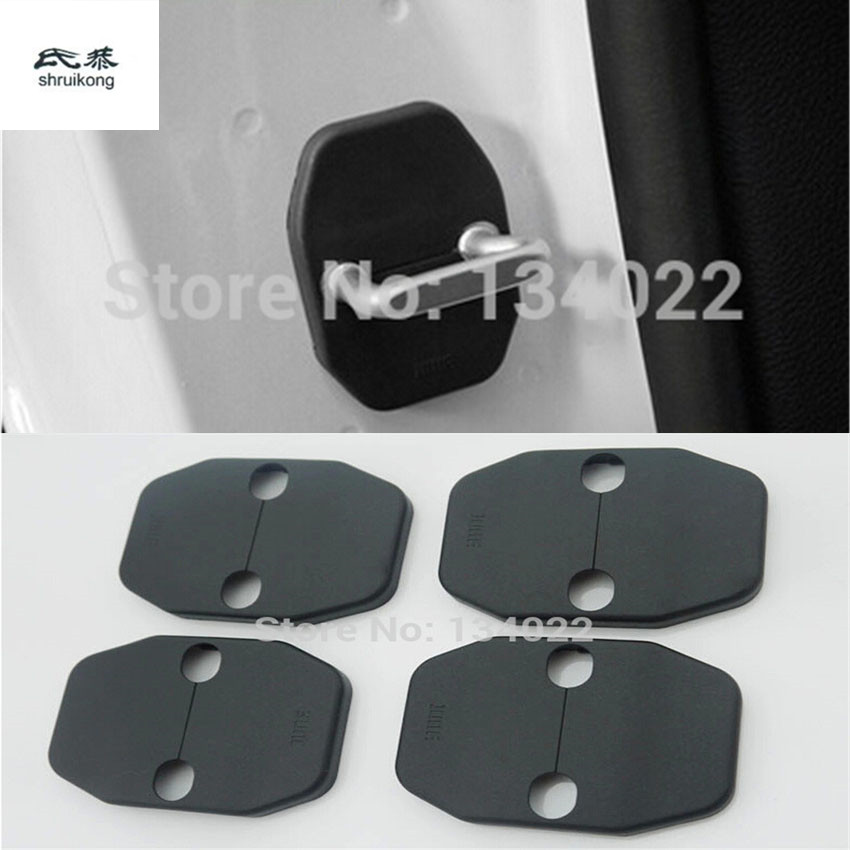 4pcs/lot Car Door Lock Decoration Protective Cover For Jeep Compass Grand Cherokee Wrangler Liberty