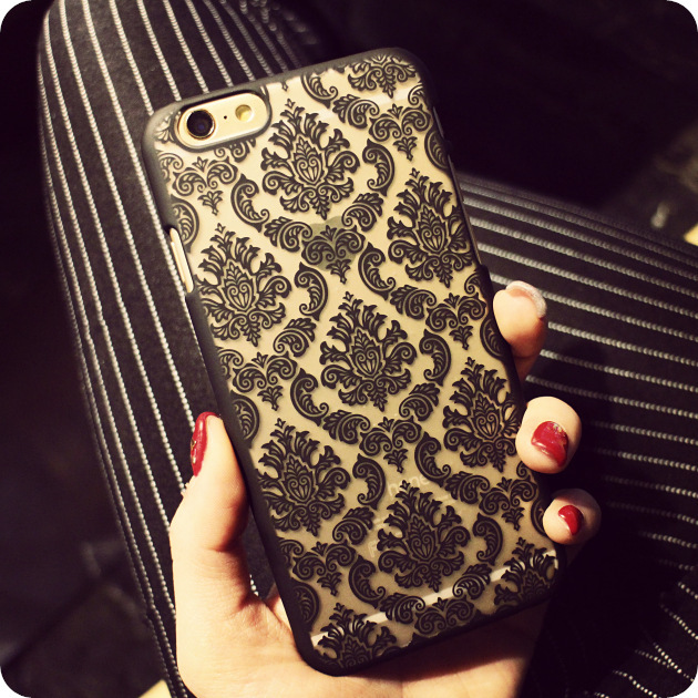 Luxury Women Lady Electroplating Lace Hollow Pattern Flowers Phone Case Cover For iPhone 5 5S 6 6S 7 Plus Samsung S8 S7 Edge S6