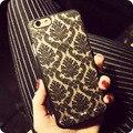 Mulheres de luxo senhora padrão galvanoplastia oco rendas flores phone case capa para iphone 5s se 6 6 s além de 7 samsung s8 s7 s6 borda