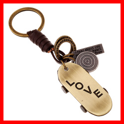 Boy Popular Scooter Key Chain Handmade with Cow Leather Key Holder Fashion Accessory