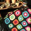 Сделай Сам  ручная работа  Цветочная Подушка  шарф  накидка  ковер  ручная работа  модное вязаное крючком одеяло  подушка  войлок  пасторальны...