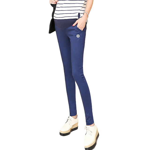 2016 Spring models trousers Slim feet pencil  prop belly pants bottoming outer wear long pants for pregnant women