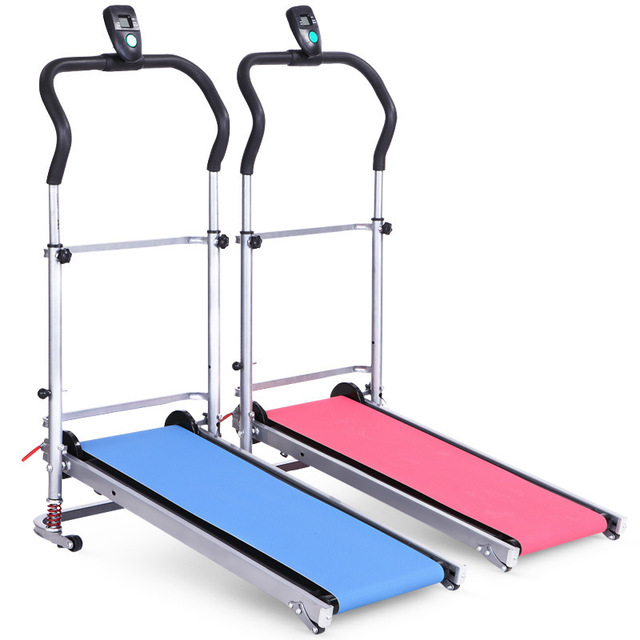Household Mechanical Treadmill With Low Noise Walking Machine Foldable Home Trainer Fitness Equipment