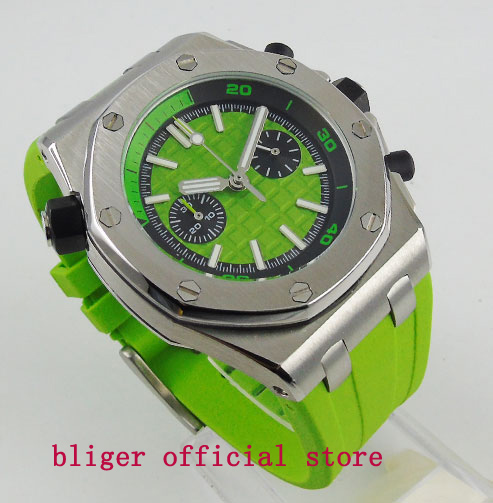 Summer Style Fashional Sport Style Mens Watch 43mm Green Dial Quartz movement Multifuntion WristwatchSummer Style Fashional Sport Style Mens Watch 43mm Green Dial Quartz movement Multifuntion Wristwatch