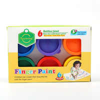 6 color children finger paint 30ml DIY graffiti painting non-toxic environmental protection art supplies