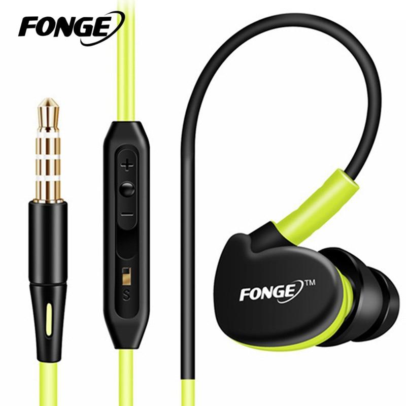 Fonge Sport font b Headphones b font Earphones With Mic Running Stereo Bass Music Headset For