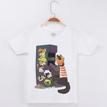 New Funny T-Shirt Creative Animal Play Game Print Boys Tshirt Children Clothing Baby Girl T Shirt Cotton Short Sleeve Tee Shirt maggie carpenter logan