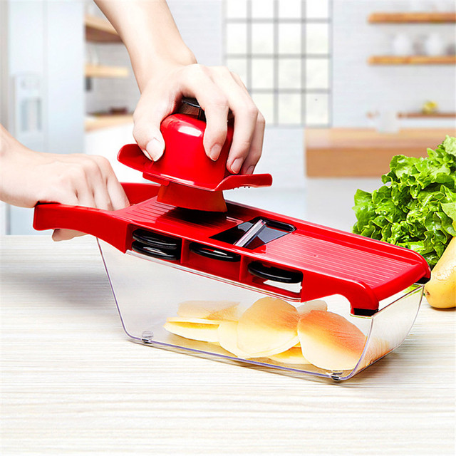 Mandoline Slicer Vegetable Cutter with Stainless Steel Blade Manual Potato Peeler Carrot Cheese Grater Dicer Kitchen Tool 1