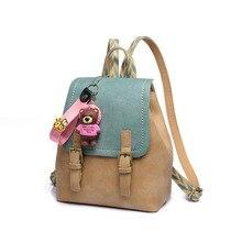Новый Мода Обувь для девочек Школьные сумки для подростков рюкзак небольшой кожаный рюкзак корейской моды Mochila Feminina Для женщин Back Pack сумка