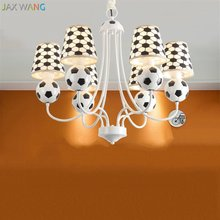 Jw Modern Creative Soccer Chandelier Led Football Chandeliers For Children S Room Boy Bedroom Home Lighting Fixtures