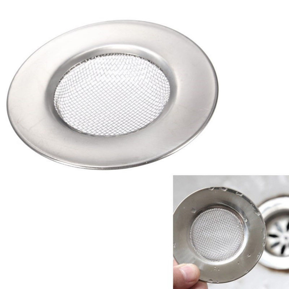 Dia Sink Strainer Stainless Steel Bathtub Hair Catcher Stopper Shower Drain  Hole Filter Trap Metal Sink Strainer 7.5cm In Drains From Home Improvement  On ...
