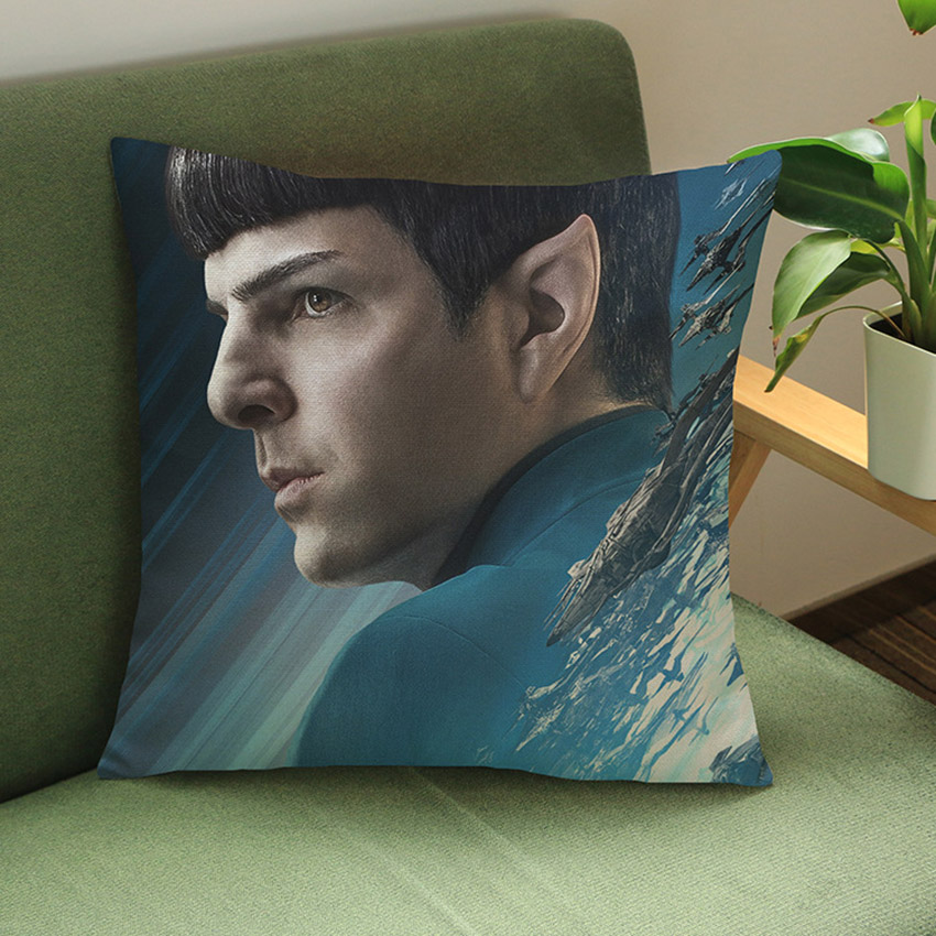Star Trek 3D Print Decorative Pillow Case Hollywood Movie Characters Linen Sofa Cushion Cover Waist Lumbar Pillow Covers Gifts