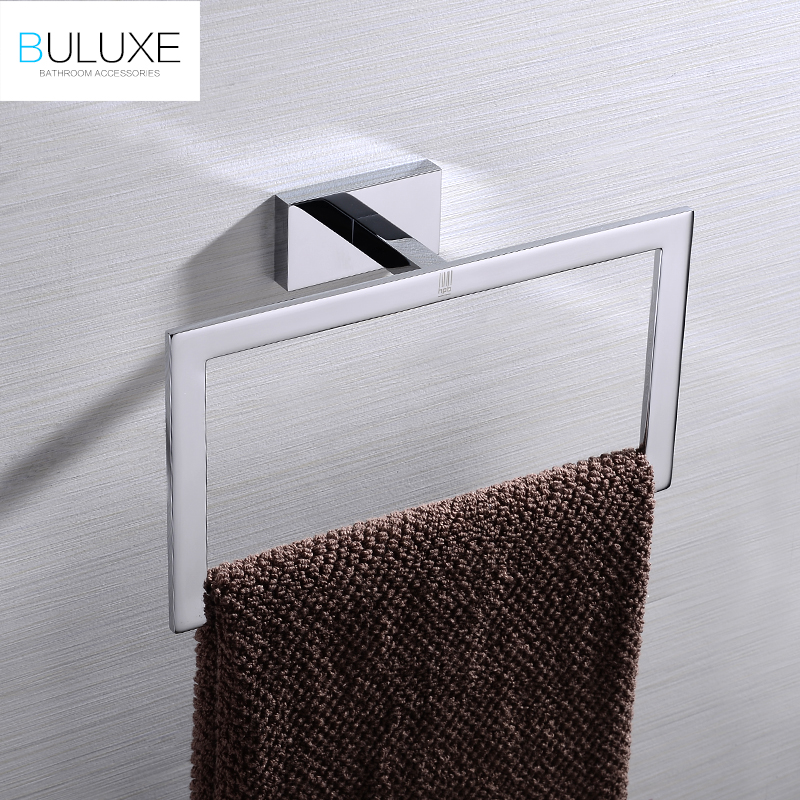 BULUXE  Brass Bathroom Accessories Towel Rack Holder Ring Chrome Finished Wall Mounted Bath Acessorios de banheiro HP7757 buluxe brass bathroom accessories towel bar rack holder chrome finished wall mounted bath acessorios de banheiro hp7736