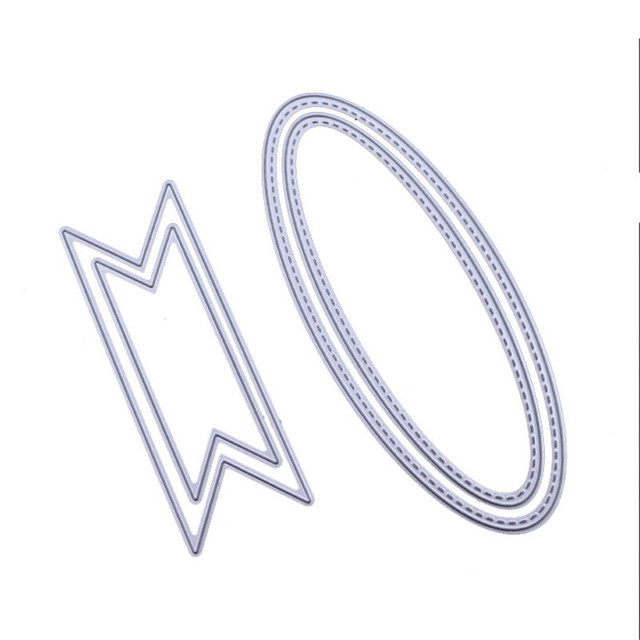 Big Bow Tie Die Oval Polygonal Metal Cutting Dies Scrapbooking Craft Cuts Embossing Stencil Decorative