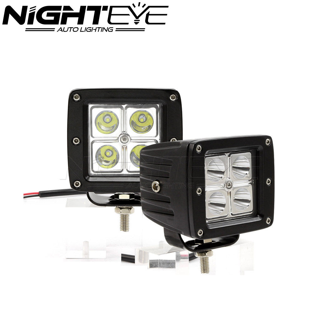 ФОТО 2PCS 24W/set 4 Car LED Work Light Bar With Cree Chips For Jeep Offroad Driving Lamp SUV Car Boat 4WD Truck 8*8CM