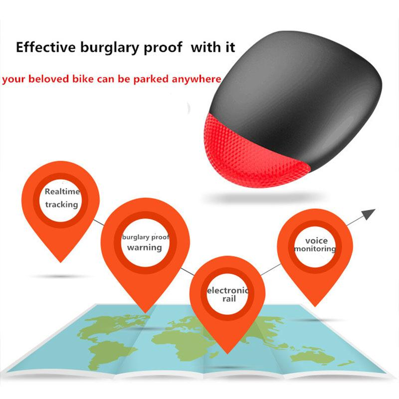 Mini Bicycle Alarm Tracker GPS Dual Mode Intelligent Phone APP Control Electric Fence Smart Alarm Waterproof Dust-pro