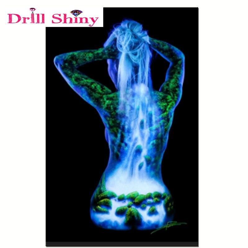 Drill Shiny 5D DIY Diamond Painting Light Body Full Square - ხელოვნება, რეწვა და კერვა - ფოტო 2