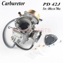 Motorcycle PD42J 42mm Vacuum Carburetor case  and other 400cc to 700cc racing motor zsdtrp pd42j c 42mm carburetor carb for pd42j yamaha grizzly 600 660 yfm600 atv raptor 500 650 660 atv quad utv