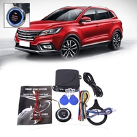 Auto Car Alarm Engine Push Button Start Stop RFID Lock Ignition Switch Keyless Entry System Starter Anti theft System