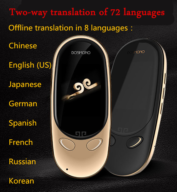 DOSMONO MINI + двусторонний голосовой переводчик Оффлайн умный переводчик AI переводчик многоязычный перевод