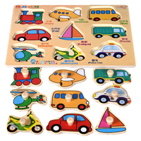 MYHOESW Wooden 3D Puzzle Jigsaw Toys For Children Cartoon Animal Model Wood Puzzles Intelligence Kids Baby Early Educational Toy