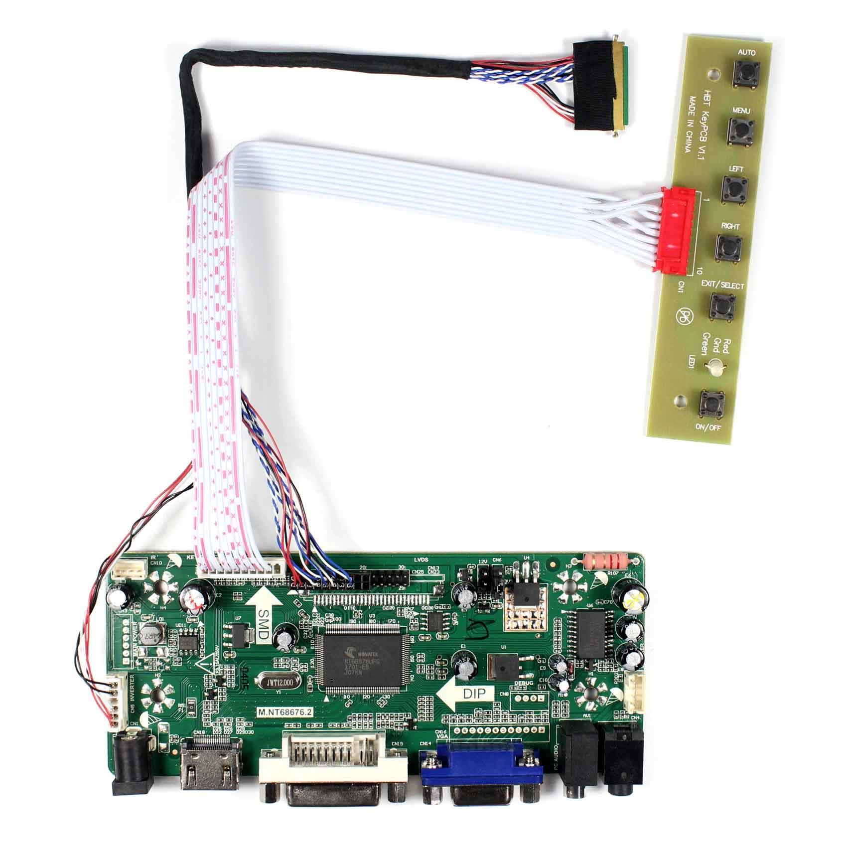 HDMI DVI VGA AUDIO LCD Controller Board M NT68676 1366x768 Resolution for  15 6inch LCD Screen LP156WH4 B156XTN02 1 LP156WH2