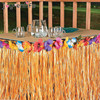 JOY ENLIFE Colorful Flowers Artificial Grass Table Skirt Hawaiian Tropical Party Decor Wedding Party Summer Pool