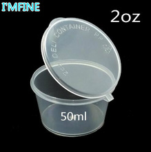 100pcs/lot- 50ml 2oz Food grade PP seasoning cup Disposable tasting cup Salad sauce Take-out storage cup