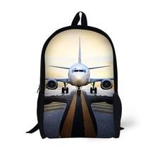 Airplane Design Generic Backpack Bag Children School Bags for Age 6-15 Teenage Boys Plane Bag Pack 17 Inch Aircraft Bookbag eureka style c bags 3 pack generic