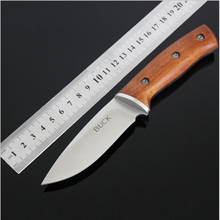 Top Quality Stone Washed Wood Handle Small Straight Knife Outdoor Camping Tactical Survival Hunting Knives Outdoor Tools