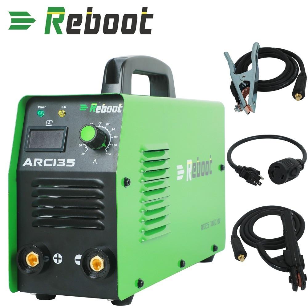 Arc Schweißer ARC135 DC 110V/ 220V MMA Inverter Dual Volt Werkzeug Schweiß Maschine Mini Tragbare 1/16 ~ 1/8 zoll Elektrode Stick Schweißer