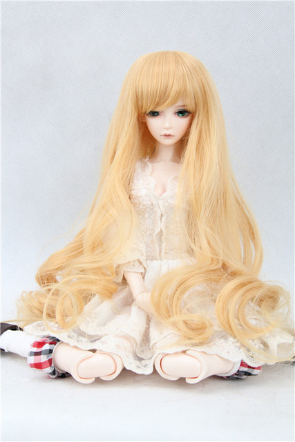 BJD / SD doll wig long hair handsome brown doll wig 1/3 1/4 1/6 soom Volk doll hair high quality