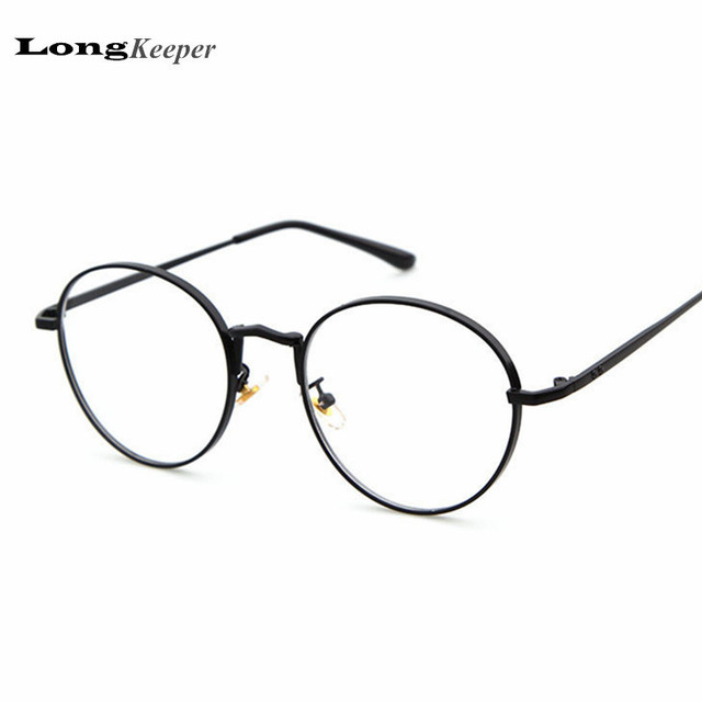 fa693aa58e 2017 New Designer Women Glasses Optical Frames Metal Round Glasses Frame  Clear lens Eyeware Black Silver Gold Pink Eye Glass