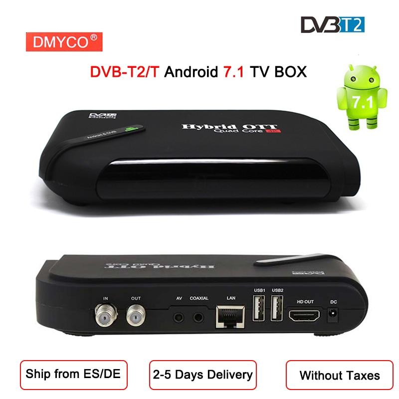 2018 DVB-T2/T Satellite TV Receptor 1080P HD Smart TV BOX Android 7.1 Amlogic S905D Quad Core Bluetooth 4.0 wifi 4K Media Player