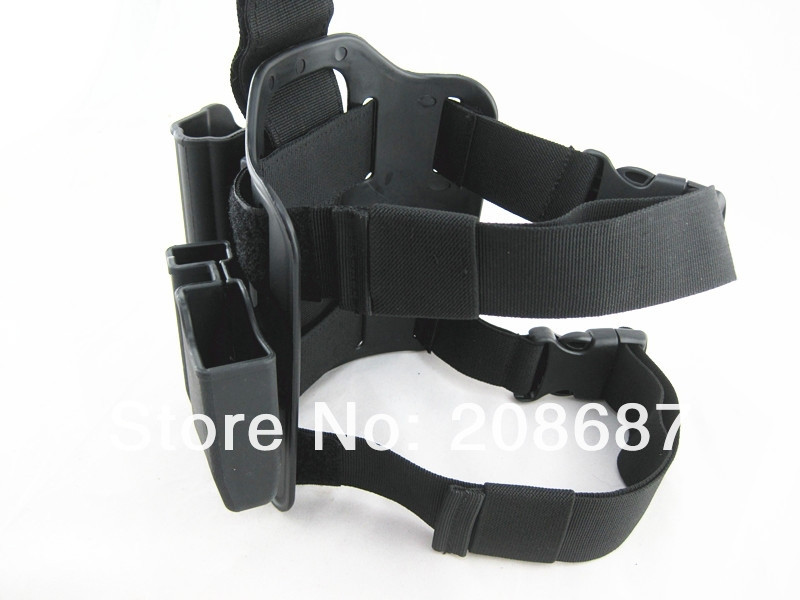 Tactical Drop Leg Holster for 1911 IMI Rotary Holster+magazine carrier+leg panel