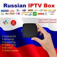 Russia IPTV 200 Channels Ipremium Migo 4K Ultra HD Smart TV BOX GooglePlay Mickyhop IPTV Box