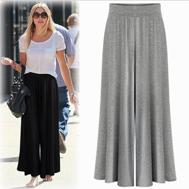 Popular Black High Waist Wide Leg Trousers-Buy Cheap Black High ...
