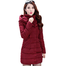 2016 New Fashion Female Winter Jacket Thick Warm Down Coats With Hoods Single Breasted Plus Size Womes Jackets And Coats