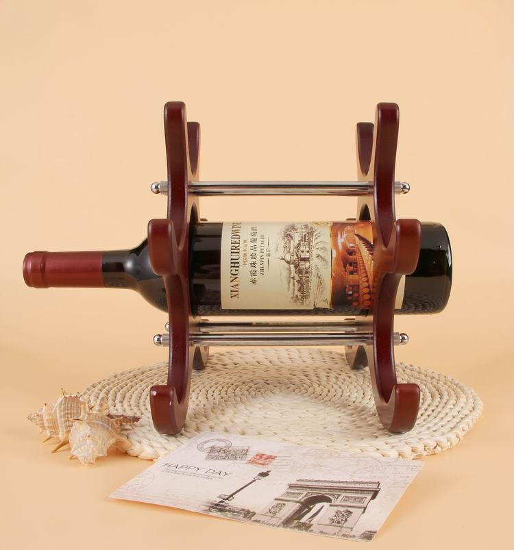 Le Elegant Wine Red Wooden And Stainless Steel Rack One Bottle Holder In Racks From Home Garden On Aliexpress Alibaba Group