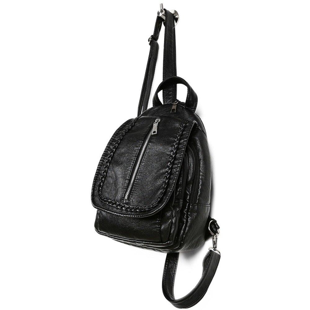 68817b50db SUNNY SHOP Korean Fashion Bag PU leather Backpack Female Girls School Bags  Cute Little Backpacks Teenagers bagpack Cheap-in Backpacks from Luggage    Bags on ...